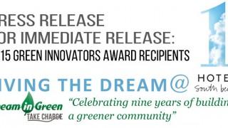 Press Release  2015 Green Innovators Award Recepients