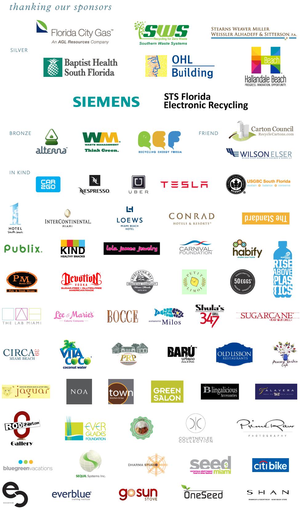 Living the Dream 2015 Sponsors