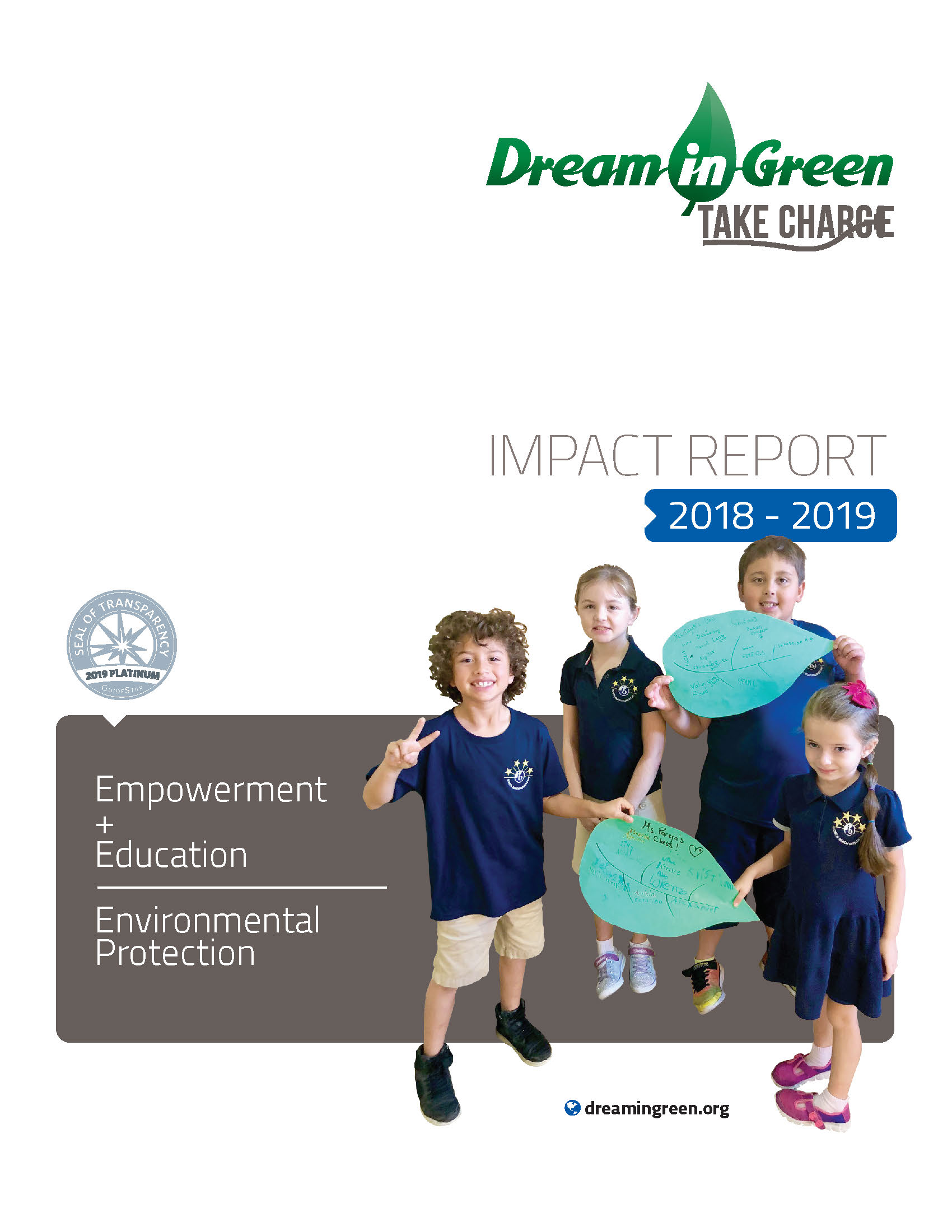 Cover DIG Impact Report 2018-2019